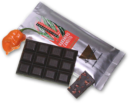 Habanero Candito: Chili-Schokolade mit kandierten Habaneros
