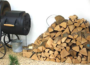 Brennholz-Vorrat