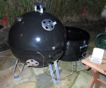 Water Smoker als Kugelgrill