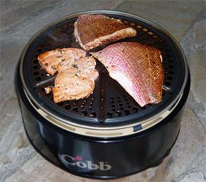 Fisch auf dem Cobb-Grill