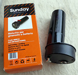 Grillspieß-Batteriemotor