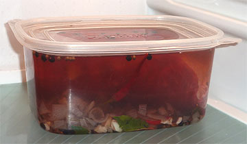 Eingelegtes Fleisch für 8 tage im Kühlschrank