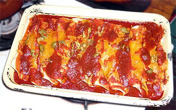 Enchiladas nach dem Überbacken