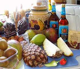 Zutaten für den Chili-Rumtopf