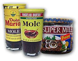 Kommerzielle mexikanische Mole im Glas