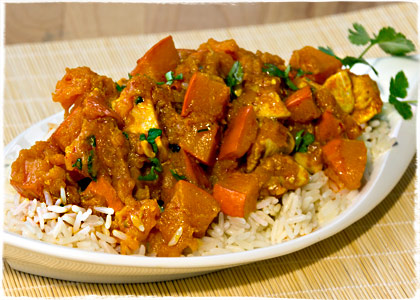 K&uuml;rbis-Chicken-Curry