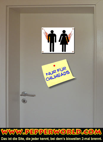 """Chilihead WC"" Anzeige"