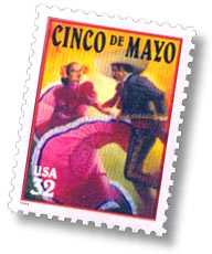 US-Briefmarke zu Cinco de Mayo