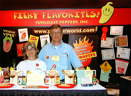 Suncoast Peppers auf der Fiery-Foods Show