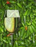 Wein mit Jalapeno-Chilis