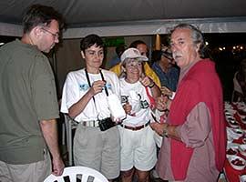 Chili-Freaks unter sich: Mats und Patricia Petterrson, Renate Zoschke, Massimo Biagi