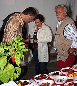Massimo Biagi mit Besuchern