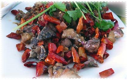 Chongqing La Zi Ji (Chili-Huhn Stir-Fry)