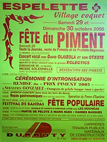 Piment d'Espelette Festival-Poster