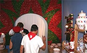 Pepper-geschmückter Shop in Espelette