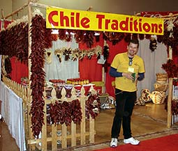 Chile Traditions' booth