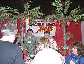 Chile Beach Jams' booth