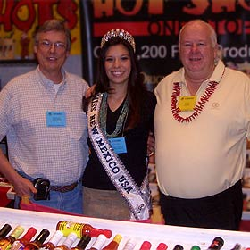 Big Dave and HZ with Onawa Lynn Lacy, Miss New Mexico 2006