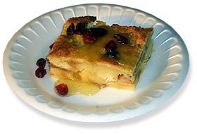 Bread Pudding with Tequila Sauce