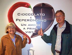 Renate & Harald Zoschke auf der Eurochocolate 2005 in Perugia