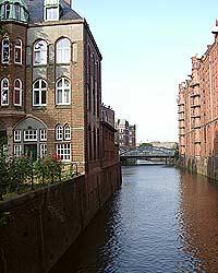 Speicherstadt von der Wasserseite