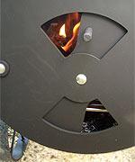Luftklappe an der Feuerbox